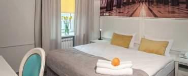Habitación de un Apart Hotel en Monte Hermoso